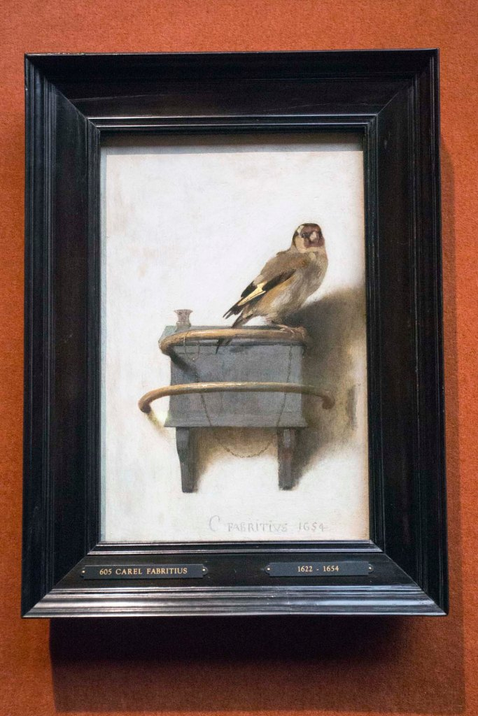 The Goldfinch on display at The Frick in NYC in 2014.